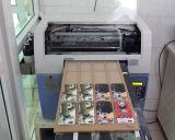 A3 impresora ULTRAVIOLETA de la impresora ULTRAVIOLETA de múltiples funciones 3D de Digitaces LED de los colores de la pista 8 de la talla Dx5 (C M Y K 4W)