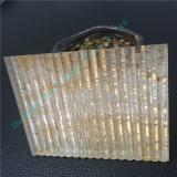Glace de verre feuilleté de Brown foncé/sandwich/glace décorative pour Building&Household