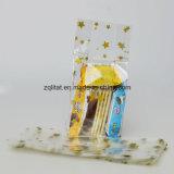 la bolsa de plástico lateral polivinílica transparente del escudete del bolso/BOPP de 0.04m m BOPP con la impresión