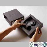 Caisse d'emballage noire de nourriture de carte de papier
