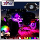 RGB LED Rock Light Kits pour Off Road Truck Car ATV SUV sous le corps Glow Light Lamp Trail Fender Lighting (blanc, ambre, rouge, etc.)