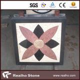白かベージュ色またはブラウンまたは黒いWaterjet大理石のモザイクスペシャル・イベントパターン