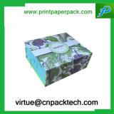 La cartulina de lujo de encargo renueva el rectángulo de regalo de papel de empaquetado cosmético de la joyería