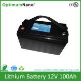 fora da bateria do sistema solar 12V100ah LiFePO4 da grade