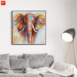Wildlife Animal Colorful Elephant Canvas Oil Painting