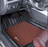 Esteira 3D do tapete do carro com Leatherette 5-Layer no bordado das tiras