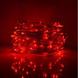 Lumières féeriques de chaîne de caractères 20 DEL micro 6.6 pieds de lumières argentées de fil pour les couleurs à la maison de mélange de la décoration 8 d'usager
