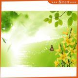 Бабочка & картина маслом цветков желтого цвета напечатанная Inkjet для домашнего украшения