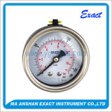 A Calibrar-Esteira da pressão do aço inoxidável terminou o calibre de pressão enchido Calibrar-Líquido da pressão