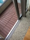 Decking composé du solide utilisé par plastique WPC extérieur dans le plancher en bois