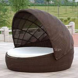 Wicker салона мебели патио сада напольные/Daybed ротанга