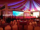 Cabina de visualización delgada de interior de LED del alquiler P6, 768*768