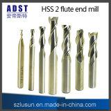 제조 끝 선반 HSS M2ai 2flute 맷돌로 가는 절단기 절단 도구