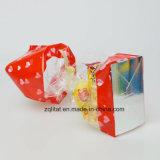 Customzied imprimió el bolso lateral basado duro cuadrado transparente del regalo de los bolsos del caramelo del celofán del escudete de BOPP con la parte inferior dura