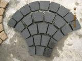 Strade del granito G682, sentieri per pedoni e cubo beige del ciottolo della pietra per lastricati della strada privata