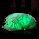 DIY Folding Novelty Folding Book Light com função USB recarregável