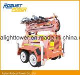 Tour légère mobile Rplt-7200 de mât élevé duel de l'essieu DEL