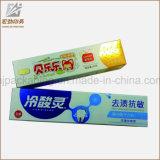 Alto Gran Papel Kraft Pasta de dientes Caja personalizada impresión con papel de aluminio