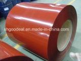 El color cubierto galvanizó la bobina de acero PPGI para el material para techos del metal