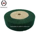 Non сплетенное полируя колесо щитка (зеленый цвет)