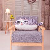 Het Decoratieve Hoofdkussen van de Kat van de Stof van de Polyester van de ruggesteun