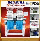 帽子の平らなTシャツのための安い価格の但馬のタイプ2ヘッド刺繍機械は刺繍の中国の産業ミシンの兄弟のソフトウェアの販売2のヘッド倍に蹄鉄を打つ