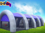 Púrpura Waterproodf material inflable Paintball tienda