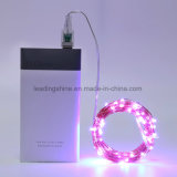 20 микро- звёздный USB провода света СИД шнура медный экстренный тонкий серебряный приведенный в действие для венчания DIY