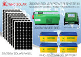 Support de toit ou de prise de masse outre de système solaire du réseau 3kw pour la maison