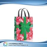 Saco de portador de empacotamento impresso do papel para a roupa do presente da compra (XC-bgg-031)
