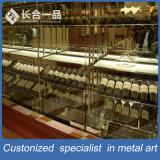 Cremagliera di visualizzazione a più strati del vino dell'argento di vendita della fabbrica per Suppermarke/randello
