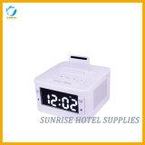 Квадратная Desktop электронная станция стыковки будильника для спальни гостиницы