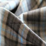 灰色の小切手デザインの2つの側面のブラシが付いている北極の羊毛ファブリック