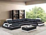 Modernes Wohnzimmer-Sofa-großes ledernes Ecksofa-ues-förmig Schnitt