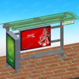 Stadt-im FreienBushaltestelle Station-Schutz mit dem Bekanntmachen des Zeichens