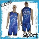 Chemise faite sur commande à séchage rapide et circuits du Jersey de basket-ball de tissu de maille de modèle neuf