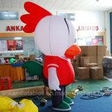 상업 급료 팽창식 닭 만화 걷는 복장