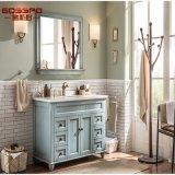 ヨーロッパ式手は苦しめた白い床の永続的な浴室用キャビネット(GSP9-003)を