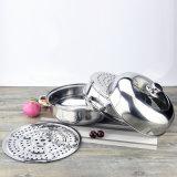 調理のためのガラスふたが付いているステンレス鋼の鍋(FT-02006)