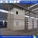 Rápidamente casa modular prefabricada del envase del paquete plano de la instalación del edificio de la estructura de acero con el panel de emparedado