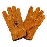 Kuh-aufgeteiltes Leder-Sicherheits-schützende fahrende Handschuhe