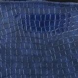 Cuero sintetizado del PVC del cocodrilo de moda para el bolso de mano