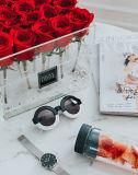 명확한 아크릴 방수 꽃 선물 상자