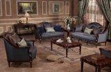Sofà classico del tessuto per l'insieme della mobilia della casa dell'oggetto d'antiquariato del salone