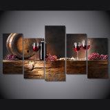 HD ha stampato i vetri ordinari del vino rosso che verniciano sulla tela di canapa Mc-005 della maschera del manifesto della stampa della decorazione della stanza della tela di canapa