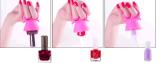 Support de boucle de bouteille de vernis à ongles de silicones