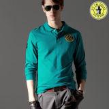 Long fournisseur de T-shirt de chemise de polo bon marché d'homme dans Guangzhou