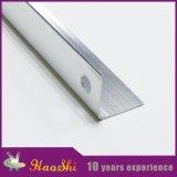 Tiras de ribete de aluminio del azulejo en el color de plata anodizado de Matt
