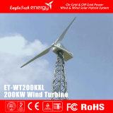 sistema das energias eólicas do sistema do vento do gerador de vento da turbina de vento 200kw