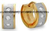 Blue Zircon Stainless Steel Fashion Jewelry Earrings (ER2649)